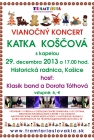 Vianočný koncert Katky Koščovej a jej hostí