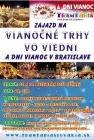 Zájazd na vianočné trhy vo Viedni a Dni vianoc v Bratislave